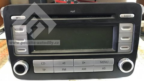 Autoradio stereo RCD300 MP3 1K0035186AD VW Golf V, Passat B6