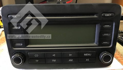 Autoradio stereo - CD RCD300 1K0035186LX VW Golf V